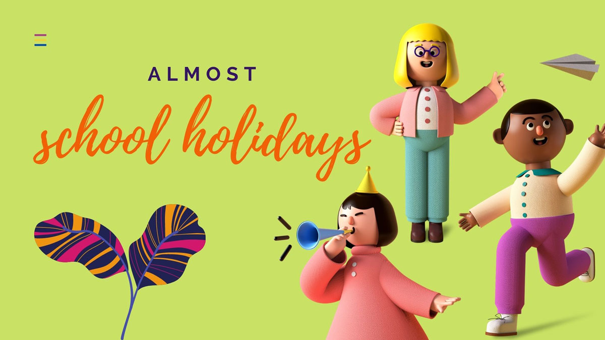 school holidays almost canva